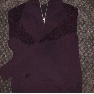 plum lululemon sweatshirt